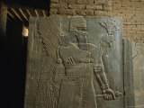Relief Sculpture of an Assyrian King at Nimrud Photographic Print by Randy Olson