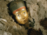 Womans Funerary Mask from Tell El Sowwah Photographic Print by Kenneth Garrett