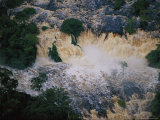 An Aerial View of Mingouli Falls, on Gabons Ivindo River Photographic Print by Michael Nichols