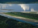 Sandbars Created by the Channels of the Mackenzie River Photographic Print by Raymond Gehman