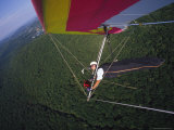Hang Gliders Self Portrait Taken by a Wing-Mounted Camera Photographic Print by Skip Brown