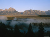Fog Rising off the Snake River in the Early Morning Photographic Print by Michael S. Lewis
