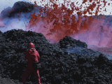 Photographer Carsten Peter Shoots Turbulent Volcanic Action Photographic Print by Peter Carsten