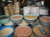 Mexican Seeds and Beans for Sale in an Outdoor Market Photographic Print by Gina Martin