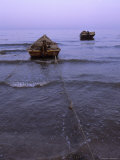 Fishermen Moor Their Boats, Bohai Sea, Twilight, Qinhuangdao, China Photographic Print by Raymond Gehman