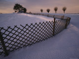 A Viking Tomb in the Snow Near Elverhoej Photographic Print by Sisse Brimberg