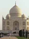 Tourists Walking Through Gardens on Grounds of the Taj Mahal Photographic Print by Jason Edwards