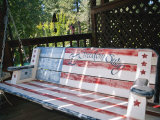 Let Freedom Swing Swinging Bench; Sutter Creek is a Mining Town in the Gold Country of California Photographic Print by Gina Martin