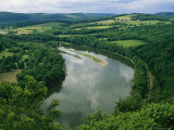 Elevated View Along the Susquehanna River and Surrounding Landscape Photographic Print by Raymond Gehman