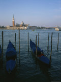 A View over the Grand Canal and Gondolas to the Island of Saint George Photographic Print by Taylor S. Kennedy