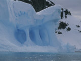 Detail of an Iceberg Shaped by Erosion Photographic Print by Gordon Wiltsie