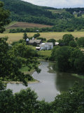 A Farm on the Banks of the Susquehanna River, Photograph Taken Near the Endless Mountains Photographic Print by Raymond Gehman