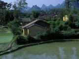Yangdi Valley Farm Fields, Guilin, Guangxi, China Photographic Print by Raymond Gehman