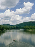 Canoeists on the Susquehanna River Near the Endless Mountains Photographic Print by Raymond Gehman