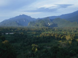 View of the Sarawak Rainforest, Home of the Penan Tribespeople Photographic Print by Maria Stenzel