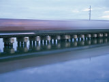 The Blur of an Early Freight Train Crossing over the Matanzas River Photographic Print by Stephen St. John
