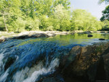 Waterfalls on the Eno River Passing Through a Hardwood Forest Photographic Print by Raymond Gehman