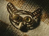 A Gold Owl Nose Ornament was One of Five Pieces Found in the Tomb Occupants Mouth Photographic Print by Kenneth Garrett