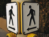 Two Sides of the Graphic Crosswalk Signs That Send a Clear Message Photographic Print by Stephen St. John