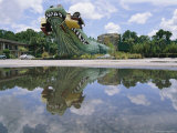 A Giant Alligator Still Stands in Front of an Abandoned Roadside Zoo Photographic Print by Stephen St. John