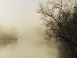 Fog Hovers Above the James River Photographic Print by Raymond Gehman