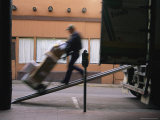 The Blur of an Early-Morning Delivery in Old Santa Fe Photographic Print by Stephen St. John