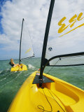 Small Cat-Rigged Boat Sailing off the Florida Keys Photographic Print by Skip Brown