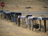 A Parade of Mailboxes on the Outskirts of Santa Fe Photographic Print by Stephen St. John