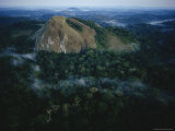Aerial View of a Rock Outcrop Rising out of the Minkebe Forest Photographic Print by Michael Nichols