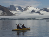 Kayakers Explore Hornsund Fjord in Svalbard Photographic Print by Ralph Lee Hopkins
