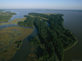 Aerial View of the James River Photographic Print by Ira Block