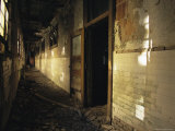 A View of a Decaying Hallway on Ellis Island Photographic Print