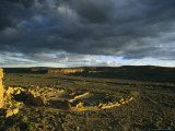 Twilight View of the Anasazi Ruins at Pueblo Bonito Photographic Print by Ira Block