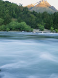 Tres Montes Peaks, Forest, and the Rolling Futaleufu River Photographic Print by Skip Brown