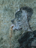 Detail from a San Mural Painting of a Shaman Bleeding from the Nose Photographic Print by Kenneth Garrett