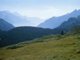 The Swiss Alps Recede into the Distance Photographic Print by Taylor S. Kennedy