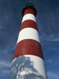 Skyward View of the Assateague Island Lighthouse Against a Blue Sky Photographic Print by Raymond Gehman
