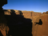 Photographer Rappels Off Desert Tower, Utah Photographic Print by Bill Hatcher