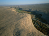 Aerial of a River Flowing Through the Atacama Desert Photographic Print by Joel Sartore