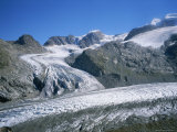 The Morteratsch Glacier Flows Downhill in Switzerland Photographic Print by Taylor S. Kennedy