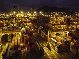 Hong Kong Cargo Terminal Photographic Print