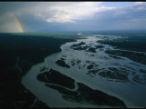 Elevated View of a Waterway near Denali Photographic Print by Bill Hatcher