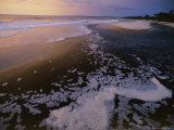 Surf on the Beach at Twilight along Gabons Atlantic Shore Photographic Print by Michael Nichols