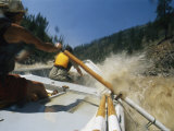 Boaters Splash down the Main Fork of the Salmon River Fotoprint
