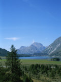 View of the Engadin Valley outside St Moritz Photographic Print by Taylor S. Kennedy