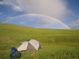 Rainbow Arcs over a Campsite on a Mongolian Steppe Photographic Print by David Edwards
