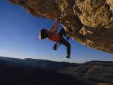 Young Woman Climbing the Rock Feature Called Perry the Wind Photographic Print by Bobby Model