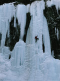 Ice Climber in Jasper National Park Photographic Print by Peter Carsten