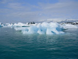 Icebergs from the Breidamerkurjokull Glacier Float in Glacier Lagoon Photographic Print by Sisse Brimberg