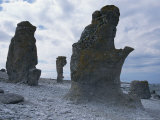 Coastal Rock Formations on Gotland Island Photographic Print by Sisse Brimberg